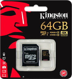 Memoria Micro Sd Kingston 64gb Clase 10 4k