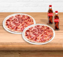 🍕2 Pizzas Pepperoni medias + Gaseosa 300 ml