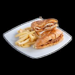 Sandwich de Pechuga de Pollo a la Parmesana