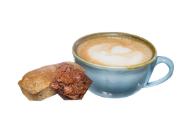 El muffin que escojas 🙂 + Capuchino ☕ + Mini Brownie