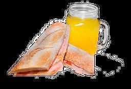 Sándwich Jamón y Queso 🥪 + Jugo de Naranja  🍹