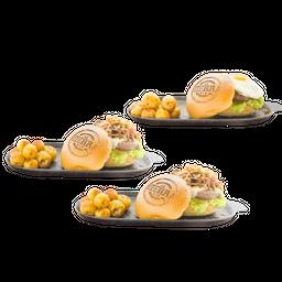 3X2 Hamburguesa con papas