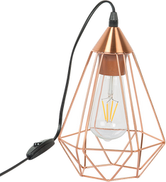 LAMPARA DE MESA ANNATA 17.5*17.5*110CM ACERO COBRE