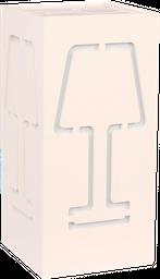 LAMPARA DE MESA C2L- 18 FUN 14*14*30CM PVC BLANCO