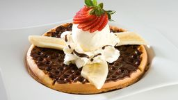 Waffle Nutella y Banano