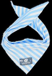 Pañoleta rayas celeste blanco