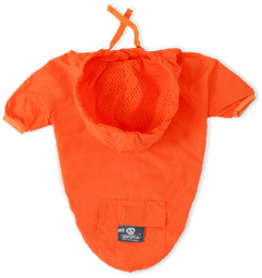 Chaqueta cortavientos naranja