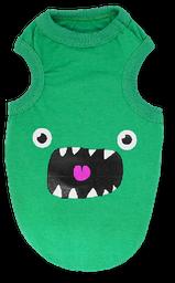 Esqueleto verde monstruo