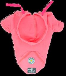 Sudadera rosa botón
