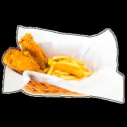 Pollo a la Broaster Ejecutivo (2 presas)