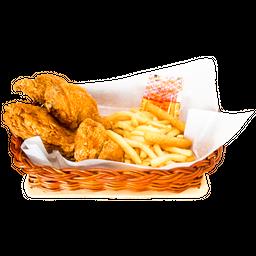 Pollo a la Broaster Medio (4 presas)