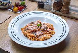 Riccioli en Salsa de Chorizo