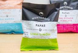 Papas Monte Rojo Sabor Lima Limón