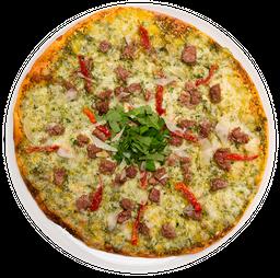 Pizza Solomito y Queso Azul