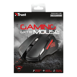 Mouse Gamer Trust Gxt 111 Alambrico Usb Negro