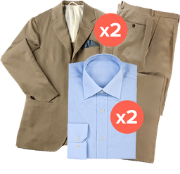 2 trajes (2 piezas) + 2 camisas