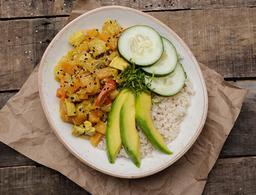 Bowl con Pollo al Curry