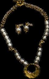 Gargantilla De Perlas Con Aro Grueso Martilladorefe. CCG2558