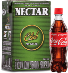 Aguardiente Nectar 1 Litro + Coca Cola Pet 400ml