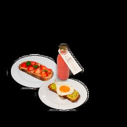 🍞Tostada Salada + una Dulce y te Obsequiamos un Jugo Vivo