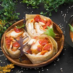 Combo Perfecto: Wrap Pollo Crispy + Sopa Mexicana Pequeña