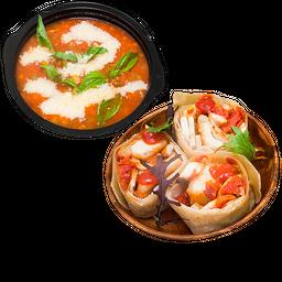 Pollo Crispy + Sopa Minestrone
