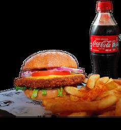 🍔🍟🥤Combo Fried Chicken Burger + Papas + Coca Cola