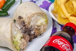 Burrito(300 g) + Nachos + Gaseosa