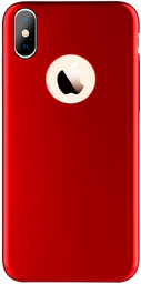 Estuche Forro iPhone X Wefone Metal Rubber Rojo