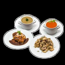 Combinación perfecta para dos + Sopa