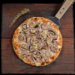 Pizza Jamón con Champiñones
