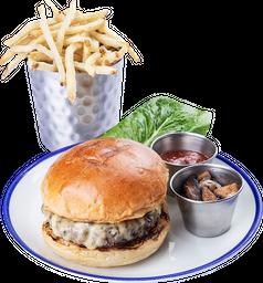 🍔Mushroom & Gouda Beef Burger