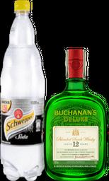 Rappicombo Schweppes Soda + Buchanans 12 Años Deluxe 750 ml