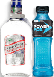 Rappicombo Powerade Mountain Blast + Aguardiente Antioqueño