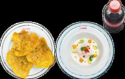 Ceviche (a elección) + Acompañamiento + Bebida