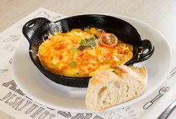 Huevo Cebolla y Tomate