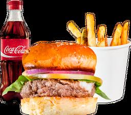 🍔Hache Bistró + acompañamiento + Coca-Cola
