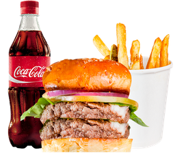 🍔Combo Hache Smashed Doble Carne