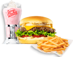 🍔 🍟 Combo Especial Rocket Single Original 125 grs y Malteada