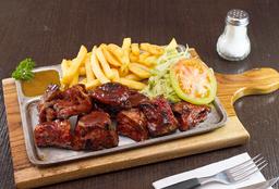 Costillas de cerdo en salsa BBQ