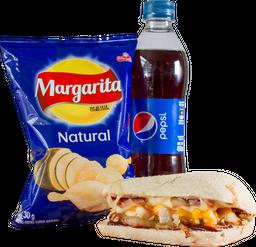 Solidario: Sándwich + Papas + Bebida