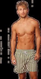 Pantaloneta Tub and Stripes - Olive Green