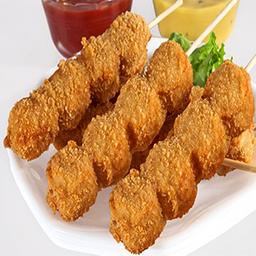 Pinchos de pollo apañado