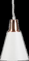 LAMPARA DE TECHO C2L- 18 MOON 22*22*32CM METAL BLANCO