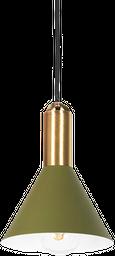 LAMPARA DE TECHO LILLE 16*16*150CM METAL VERDE/DORADO