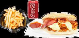 Sandwich Liverpool + Papas + Coca Cola