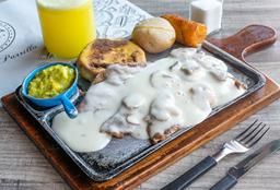 🥩 Carne a la Parrilla en Salsa Champiñones