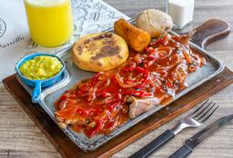 🍽 Cerdo a la Parrilla en Salsa Riojana