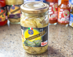 Frasco alcachofas en aceite de oliva 360 gr