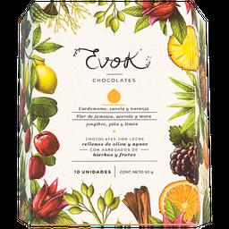 Evok Chocolates Rellenos de Oliva y Agave Con Hierbas y Frutas